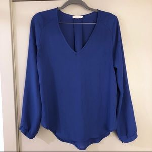 LUSH BY NORDSTROM BLUE TOP